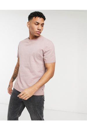 Only & Sons Washed t-shirt in pink