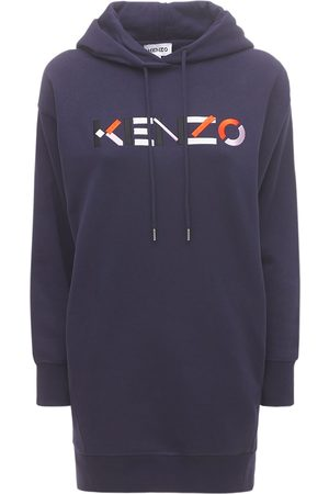 Kenzo Women Dresses - Logo Cotton Fleece Sweat Dress