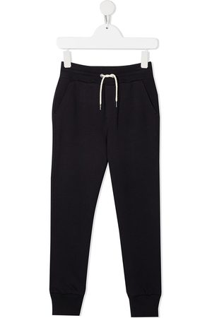 Lanvin Logo-embroidered cotton track pants