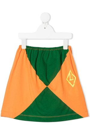 The Animals Observatory Colour-block cotton skirt
