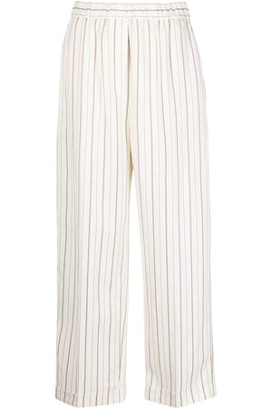 PESERICO SIGN Striped wide-leg trousers