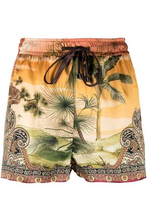 F.R.S For Restless Sleepers Paisley-print silk shorts
