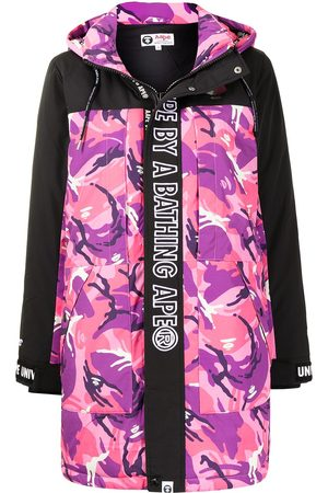 AAPE BY *A BATHING APE® Graphic-print hooded padded coat