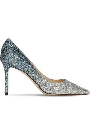 Jimmy Choo 85mm Romy Gradient Glittered Pumps