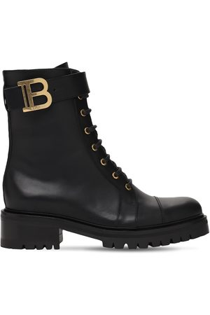BALMAIN 25mm Romy Ranger Leather Combat Boots