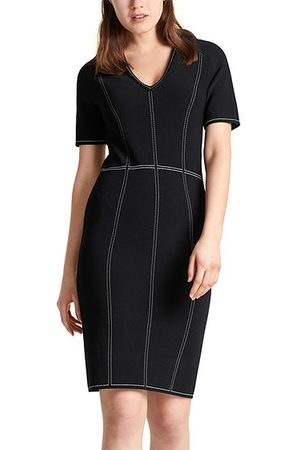 Marc Cain Women Bodycon Dresses - Bodycon Dress with Contrast Stitching