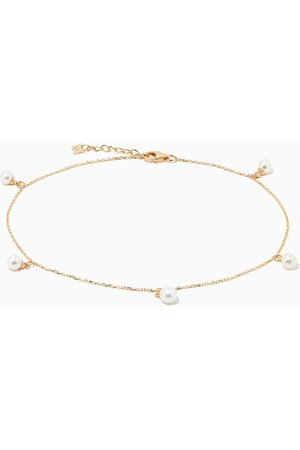 Mateo New York Women Anklets & Toe-rings - 5 Point Pearl Anklet in 14kt Gold
