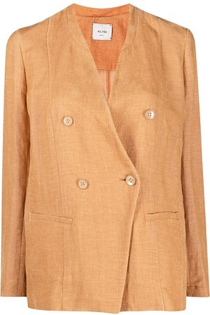 ALYSI Double-breasted fitted blazer
