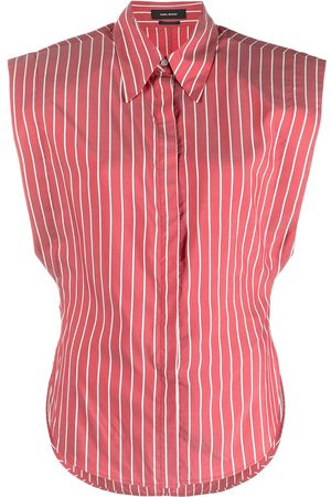Isabel Marant Women Strapless Tops - Striped sleeveless shirt
