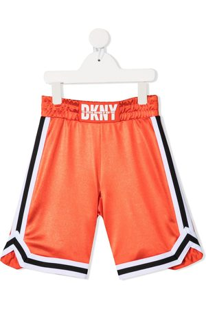 Dkny Kids Logo print sports shorts