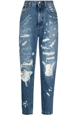 Dolce & Gabbana Ripped tapered jeans
