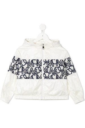 Moncler Monogram-print hooded jacket