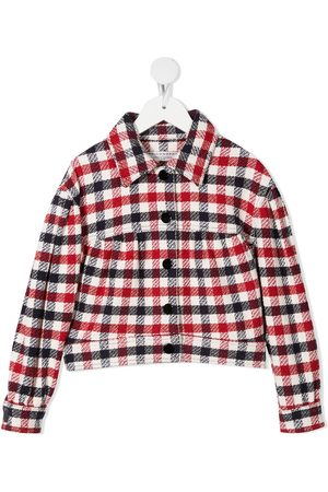 PHILOSOPHY DI LORENZO SERAFINI Logo-embroidered checked jacket