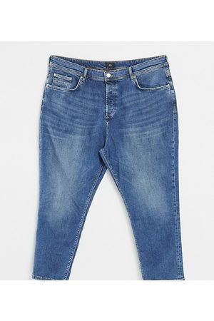 River Island Big & Tall tapered jeans in