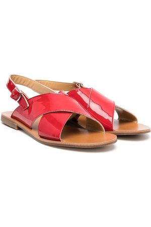GALLUCCI Sandals - TEEN buckled leather sandals
