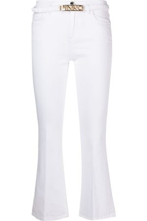 Pinko Women Wide Leg Pants - Mid-rise flared cropped trousers