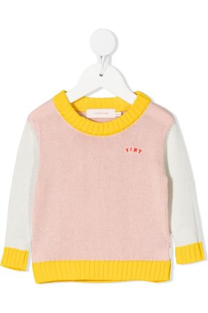 Tiny Cottons Jumpers - Chunky knit colour-block jumper