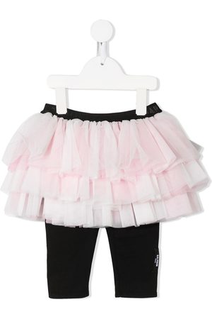 Balmain Baby Leggings - Tiered tulle skirt with leggings