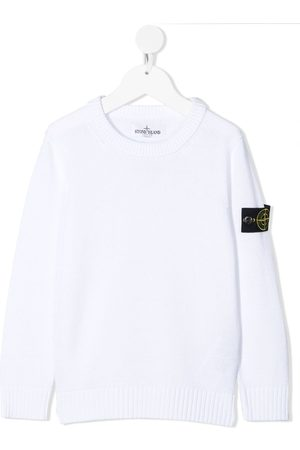 Stone Island Boys Jumpers - Logo-patch cotton jumper