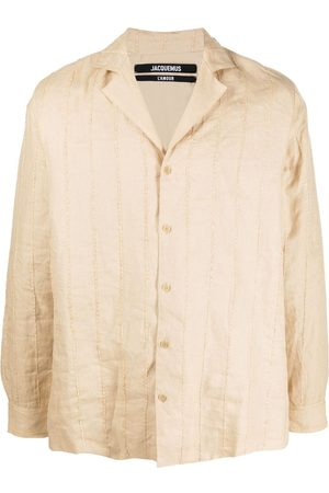 Jacquemus Stripe-embroidered buttoned shirt