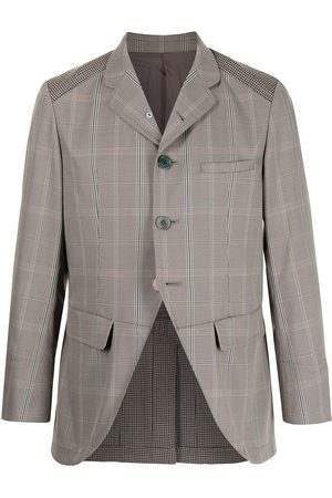 UNDERCOVER Open-front checked blazer