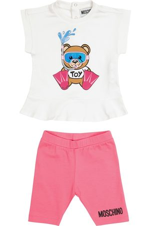 Moschino Baby logo stretch-cotton outfit