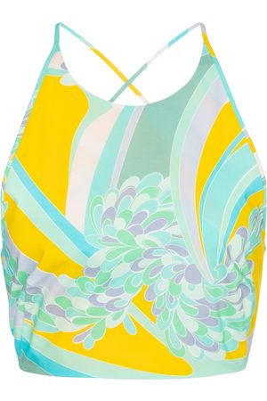 Emilio Pucci Printed cotton crop top