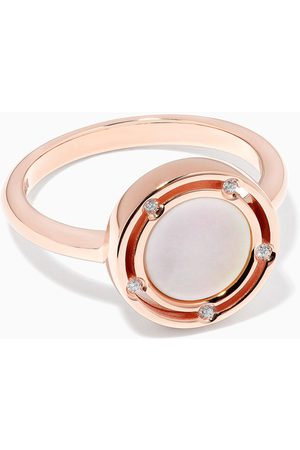 Damiani Women Rings - D.Side Diamond Ring with Mother of Pearl in 18kt Rose Gold