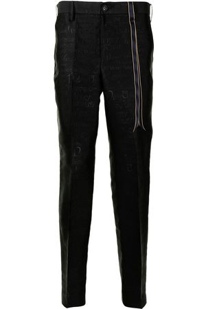 adidas Mid-rise jacquard tapered trousers