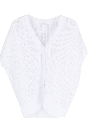 adidas Women Cardigans - Sequinned open-knit cardigan