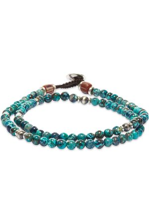Mikia Men Bracelets & Bangles - Double-Wrap Beaded Bracelet