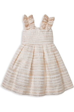 Janie and Jack Girls Dresses - Baby's, Little Girl's and Girl's Stripe Metallic Organza Dress