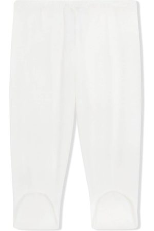 Dolce & Gabbana Embroidered-feet chenille trousers