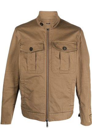 Dsquared2 Logo-patch military jacket