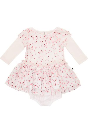 Stella McCartney Girls Playsuits - Baby polka-dot tulle and cotton playsuit