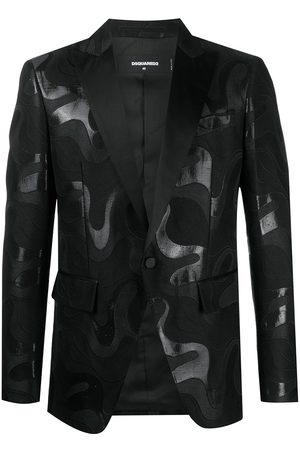 Dsquared2 Men Blazers - Abstract-print single-breasted blazer