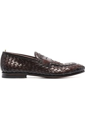 Officine creative Barona woven penny loafers