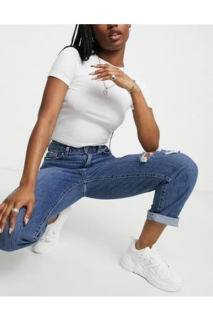 New Look Ripped straight leg jean in