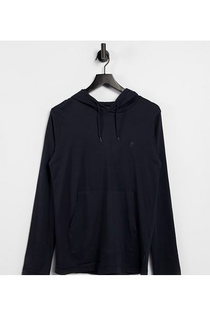 French Connection Long sleeve hooded top in marine