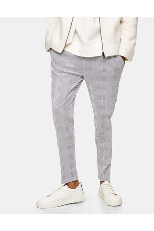 Topman Men Tracksuit - Prince of wales check joggers in