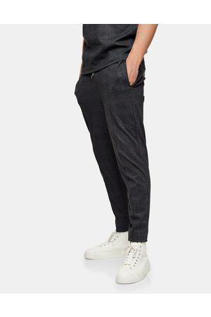 Topman Check joggers in