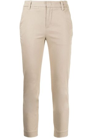 Vince Women Stretch Pants - Cropped stretch-cotton trousers