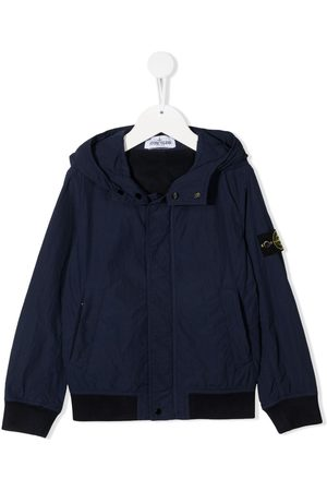 Stone Island Logo patch bomber jacket