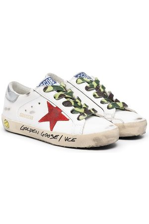 Golden Goose Boys Sneakers - Low-top camouflage lace sneakers