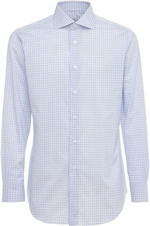 BRIONI Check Dino Fit Cotton Poplin Shirt