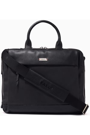 Bally Vaud Business Bag in Coated Canvas & Leather