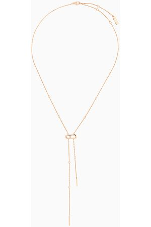 MESSIKA Move Uno Diamond Tie Necklace in 18kt Rose Gold