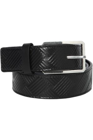 Bottega Veneta 3cm Embossed Intreccio Leather Belt