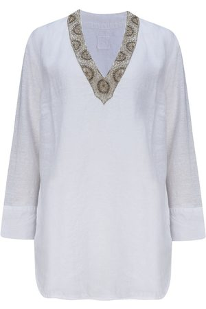 120% Lino 120% Lino Tunic with Embellishment in