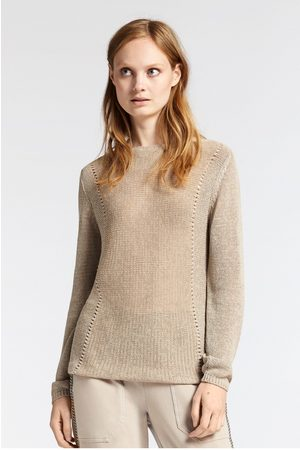 Sandwich Cotton Sparkle Jumper-Taupe
